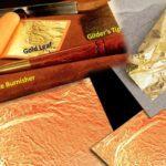gilding with 23k gold leaf