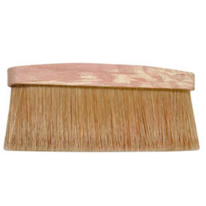 Dust brush, fair bristle, wooden handle