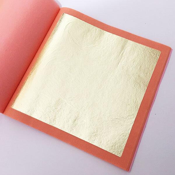 18k gold leaf booklet