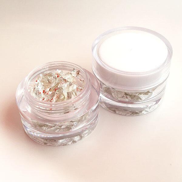 silver flakes jar