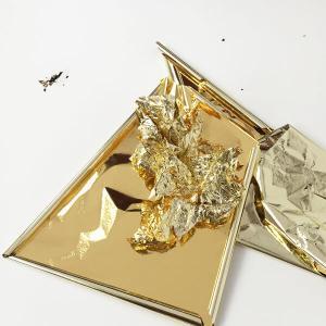 champaign silver and gold foil