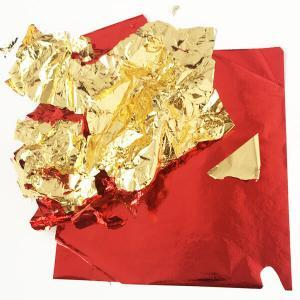 red and gold foil