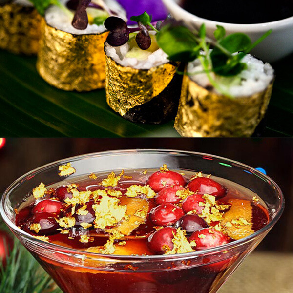 gold-flakes-on-sushi-and-drink-buy-at-gold-leaf-nz