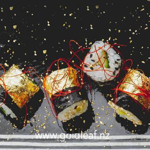 gold-leaf-on-small-sushi-buy-at-gold-leaf-nz
