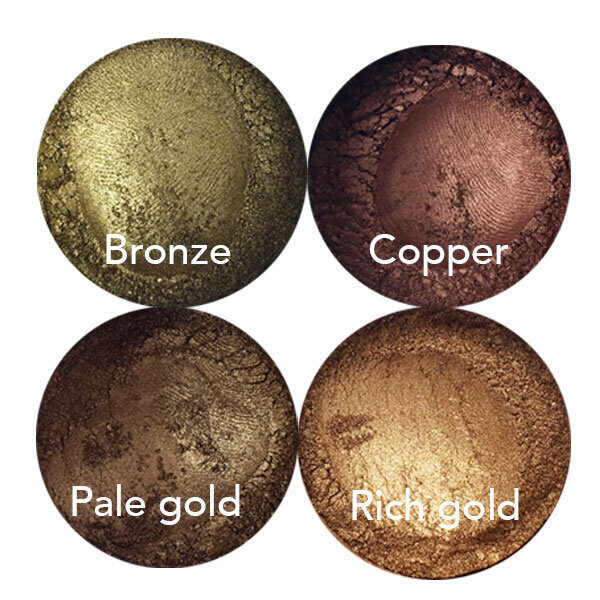 gold copper bronze