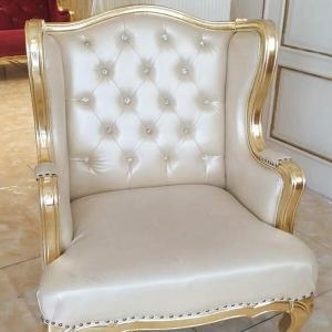 Old chair gilded with Antique Gold Leaf at Gold Leaf NZ
