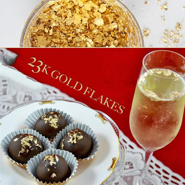 GOLD FLAKES 23K GOLD BUY AT GOLD LEAF NZ