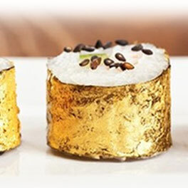 24k edible gold leaf for sushi decoration