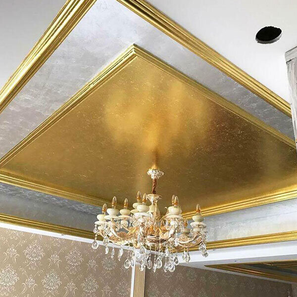 gilded ceiling with gold roll buy at Gold Leaf NZ