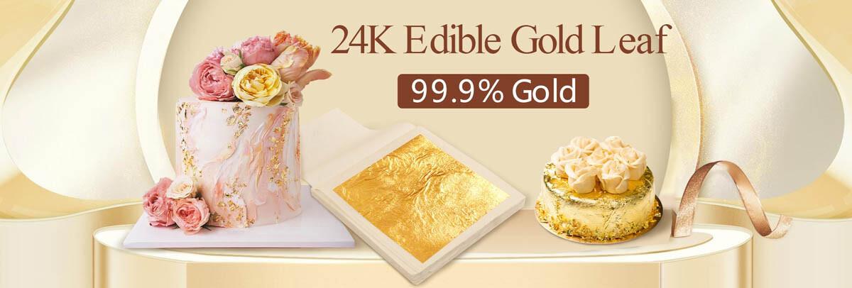 24K Edible Gold Leaf for Cake Decoration buy at Gold Leaf NZ