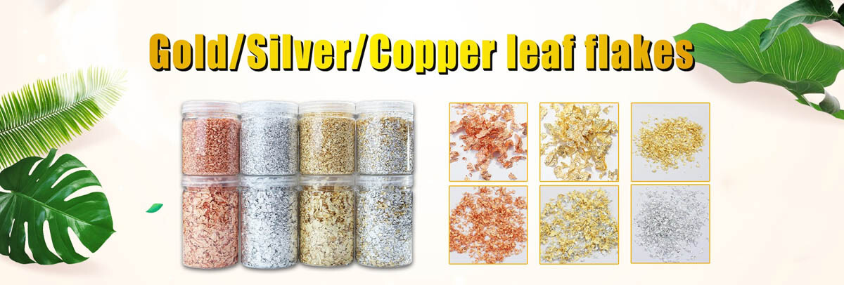 Gold Flakes For Nails Decoration and Mixed Media Artists buy at Gold Leaf NZ